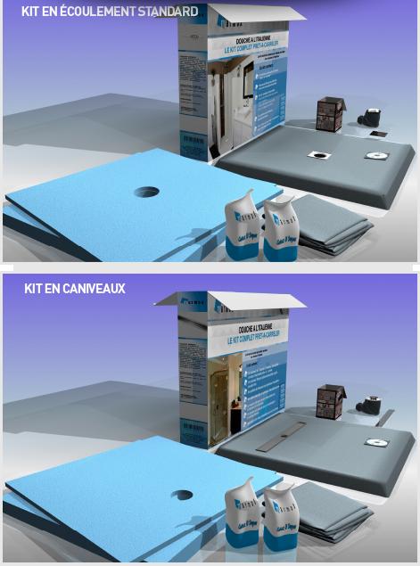 kit receveur de douche a carreler